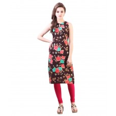 Deals, Discounts & Offers on Women Clothing - Libas Brown Crepe Kurti