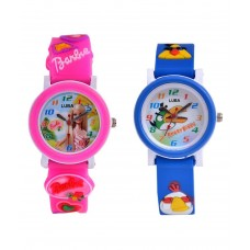 Deals, Discounts & Offers on Baby & Kids - Luba Pink and Blue Analog Watch