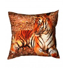 Deals, Discounts & Offers on Home Appliances - Vintana Orange Natural Poly Cotton Cushion Cover