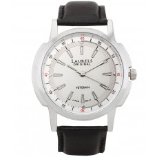 Deals, Discounts & Offers on Men - Laurels Lo-Vet-102 Black Leather Analog Watch