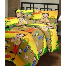 Deals, Discounts & Offers on Baby & Kids - The Home Story Glace Cotton Chota Bheem Single Bedsheet With Pillow Cover