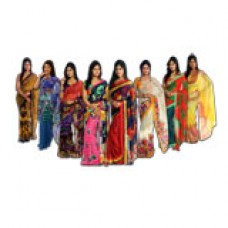 Deals, Discounts & Offers on Women Clothing - Adah Anokhi Collection PO8 Georgette Sarees
