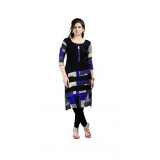 Deals, Discounts & Offers on Women Clothing - Janasya Women's Blue Printed Kurtis