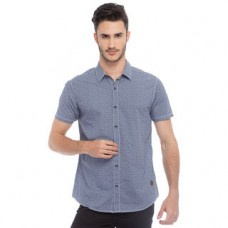 Deals, Discounts & Offers on Men Clothing - Printed Shirt In Slim Fit, blue, m