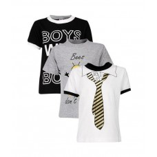 Deals, Discounts & Offers on Kid's Clothing - Goodway Pack Of 3 Printed Tees For Kids