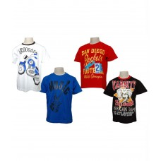 Deals, Discounts & Offers on Men Clothing - Little Stars Multicolour Cotton T-Shirt Pack of 4