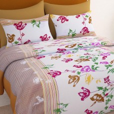 Deals, Discounts & Offers on Furniture - Flat 45% off on Bedspun Cotton Double Bed Sheet