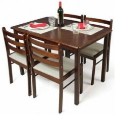 Mebelkart Offers and Deals Online - Solid Wood Plywood Seater Dining Table