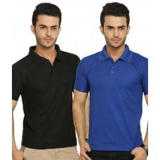 Deals, Discounts & Offers on Men Clothing - Lime Offers Combo of 2 Men's Polo T-Shirts