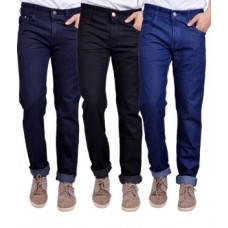 Deals, Discounts & Offers on Men Clothing - Masterly Weft Trendy Pack Of 3 Mens Cotton Jeans
