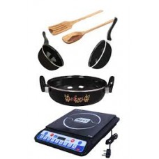 Deals, Discounts & Offers on Home & Kitchen - Combo Of Inext Induction & DCH 3 Pcs Cookware Set With 2 Skimmers