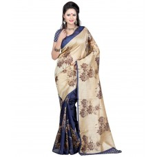 Deals, Discounts & Offers on Women Clothing - Kuki Fashion Beige Cotton Saree