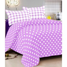 Deals, Discounts & Offers on Home Decor & Festive Needs - Vintana Purple Cotton Queen Bedsheet With 2 Pillow Cover