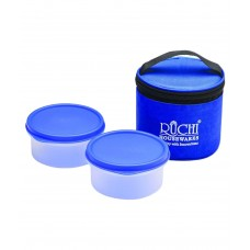 Deals, Discounts & Offers on Home Appliances - Ruchi Housewares Blue Polypropylene Small Round Tiffin