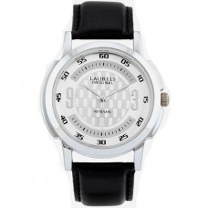 Deals, Discounts & Offers on Men - Laurels Original Lo-Vet-101 Black Leather Analog Watch