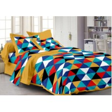 Deals, Discounts & Offers on Home Decor & Festive Needs - Story @ Home Cotton Abstract Double Bedsheet