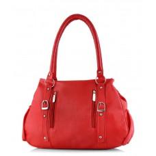 Deals, Discounts & Offers on Women - Smartways Red P.U. Zip Handbag for Women