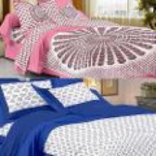 Deals, Discounts & Offers on Home Decor & Festive Needs - UniqChoice 6 Pc Cotton Double Size Bed Sheet Set