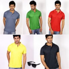 Deals, Discounts & Offers on Men Clothing - Urban Style PO5 Mens Polo Tshirt