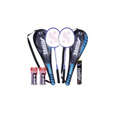 Deals, Discounts & Offers on Sports - Silver's Micro Strung 2 Badminton Racket With 2 Marval Shuttlecock Combo Set