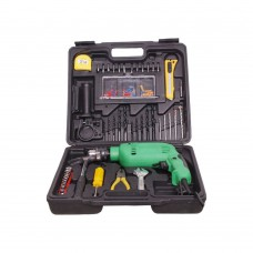 Deals, Discounts & Offers on Accessories - Elecx Gold 13mm Drill Kit with 54 pcs Tool kit