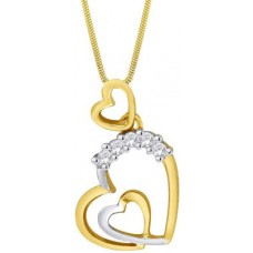 Deals, Discounts & Offers on Earings and Necklace - Asmi Designer 18K Yellow Gold 18K Diamond Gold Pendant
