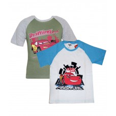 Deals, Discounts & Offers on Baby & Kids - Cars Green & White T-Shirts offer