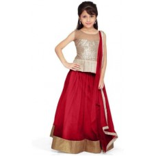 Deals, Discounts & Offers on Kid's Clothing - Pakiza Design Self Design Girl's Lehenga, Choli and Dupatta Set
