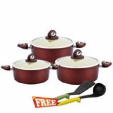 Deals, Discounts & Offers on Home Appliances - Wonderchef 6 Pcs Ceramic cook & Serve Galaxy Set