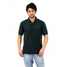 Deals, Discounts & Offers on Men Clothing - Atlanta Green Cotton Blend Half Sleeves Polo T-Shirts For Men
