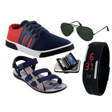 Deals, Discounts & Offers on Men - Delux 5 in 1 Combo of Shoes and Accessories at Rs 825 only