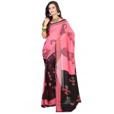 Deals, Discounts & Offers on Women Clothing - Indian Beauty Pink Art Silk Sari