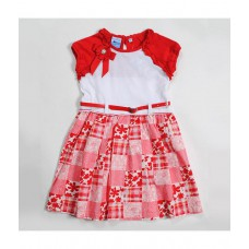 Deals, Discounts & Offers on Kid's Clothing - Nauti Nati Patchwork print dress with broach