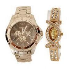 Deals, Discounts & Offers on Men - Couple Wrist Watch Mfpr28 - Buy 1 Get 1 Free