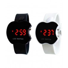 Deals, Discounts & Offers on Baby & Kids - Gentax Black Rubber Automatic Watch Pack Of 2
