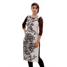 Deals, Discounts & Offers on Women Clothing - GMI White Pure Crepe Kurti