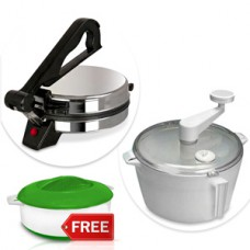 Deals, Discounts & Offers on Home Appliances - Kitchen Pro Combo of Eagle Roti Maker, Atta Dough Maker & Casserole Rs. 999 Only