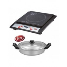 Deals, Discounts & Offers on Home Appliances - Surya Induction Cooktop with Free Glass Lid Kadhai