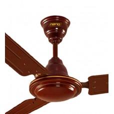 Deals, Discounts & Offers on Home Appliances - Khaitan Nano Brown Metal 3-blades Ceiling Fan