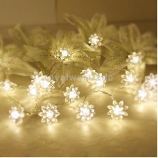 "Deals, Discounts & Offers on Home Decor & Festive Needs - 86.6"" Flower Shape Warm white 20-LED String Lamp Lights Xmas Wedding Decor"