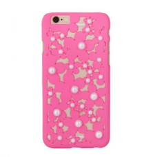 Deals, Discounts & Offers on Mobile Accessories - Hollow Out Luxu Bling Daisy Flower Pearl Hard Back Case Cover for Iphone 6 Rose