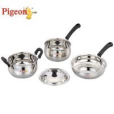 Deals, Discounts & Offers on Home Appliances - Pigeon 4Pcs Cookware Set