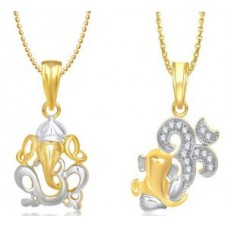 Deals, Discounts & Offers on Earings and Necklace - Buy 1 Om Ganraj Pendant And Get 1 Aum Ganesh Pendant With Chain's