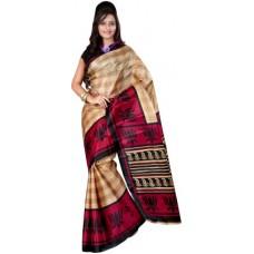Deals, Discounts & Offers on Women Clothing - Kajal Sarees Self Design Bollywood Art Silk Sari