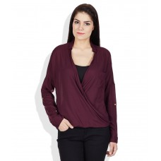 Deals, Discounts & Offers on Women Clothing - Lee Purple Regular Collar Shirt