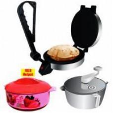 Deals, Discounts & Offers on Home Appliances - Kitchen Combo -1 Dough Maker,1 Roti Maker,1 Casserole