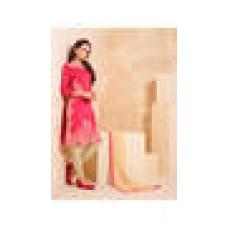 Deals, Discounts & Offers on Women Clothing - BLISSTA Red Chanderi Dress Material