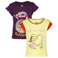 Deals, Discounts & Offers on Baby & Kids - Chhota Bheem Pack Of 2 Printed T-Shirts