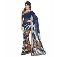 Deals, Discounts & Offers on Women Clothing - Oomph! Multi Color Georgette Saree offer