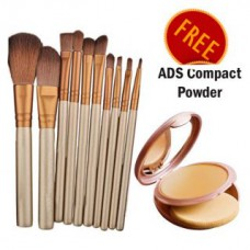 Deals, Discounts & Offers on Accessories - Imported Make-up Brush- Set Of 5 With Free Compact Powder